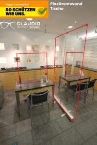 Plexiglasschutz Verkauf (Schutzkonzept)